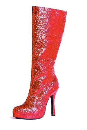 Red 4 inch Glitter Boot