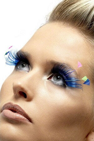 Blue Feather Plume Eyelashes