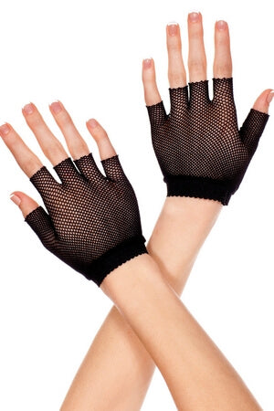 Fishnet Wrist Length Gloves