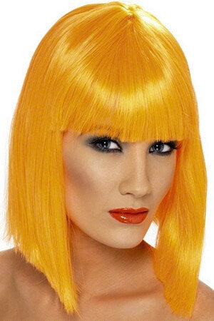 Neon Orange Short Glam Wig