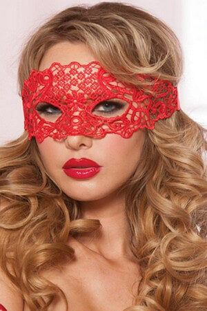 Red Galloon Lace Eye Mask