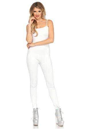 White Basic Unitard