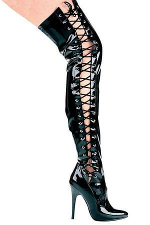 Thigh High 5 inch Lace Boot