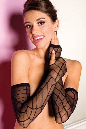 Sheer Spider Web Gloves