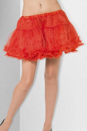 Red Satin Band Petticoat