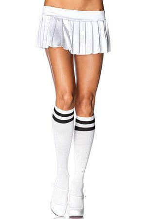 White & Black Athletic Knee Highs