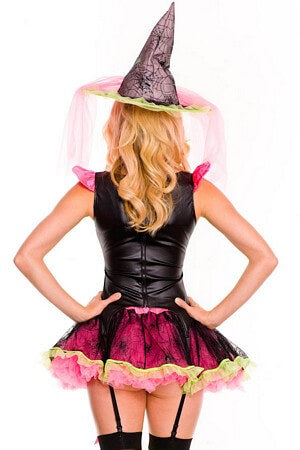 Pink Spider Witch Costume Set
