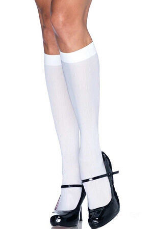 Opaque Nylon Knee Highs