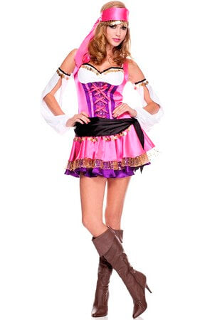 4 Pc Gypsy Costume