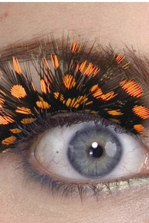 Orange Spotted Eyelashes