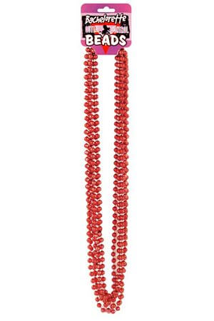 Bachelorette Party 6 Pk Red Beads