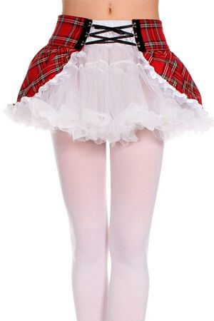 White Petticoat W/Removable Wrap