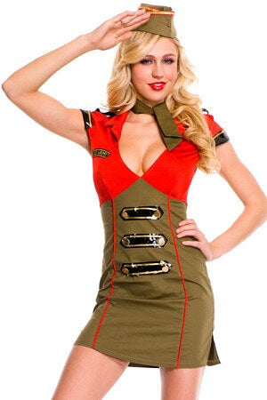 Sexy Snappy Lady Army Costume