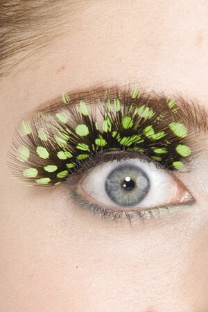Green Spotted Eyelashes