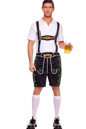 2 Pc Lederhosen Male Costume