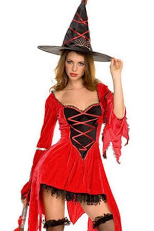 Magical Red Witch Costume Magical Red Witch Costume  sc 1 st  Lingerie Diva & Sexy Witch Costumes - Adult Halloween Witches u2013 LingerieDiva