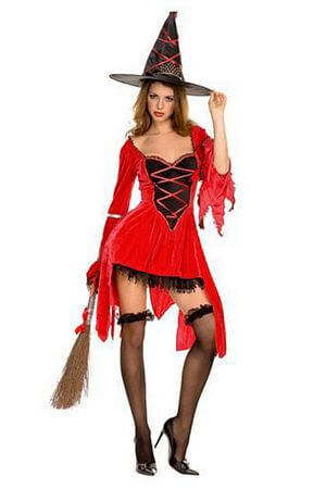 Magical Red Witch Costume