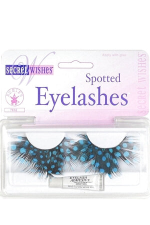 Teal Spotted Eyelashes