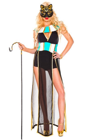 Elegant Egyptian Bastet Costume From Music Legs With Free Shipping