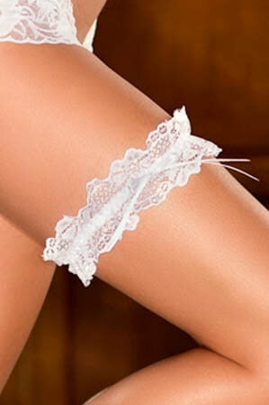 Satin Bow Lace Garter