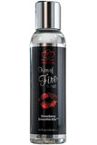 Kiss Of Fire Warming Massage Lotion, Strawberry Smoothie - LingerieDiva