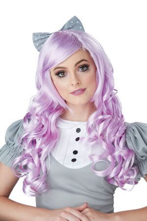 Lavender Cosplay Doll Wig