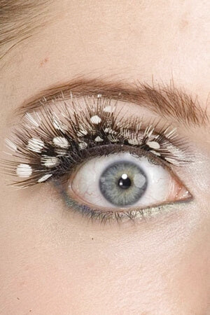White Spotted Eyelashes