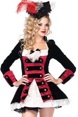Charming Pirate Captain Costume Set
