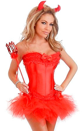 4 Pc Red Devil Costume
