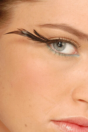 Black Feathered Eyelashes
