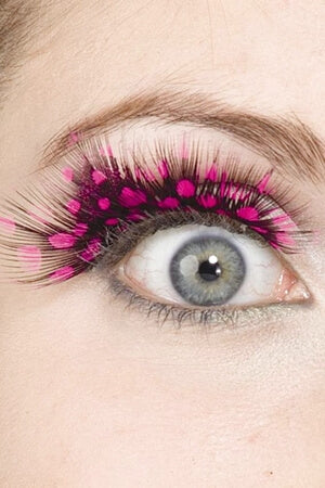 Pink Spotted Eyelashes