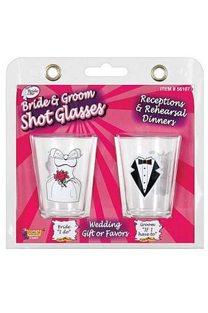 Bride and Groom 2 Shot Glasses