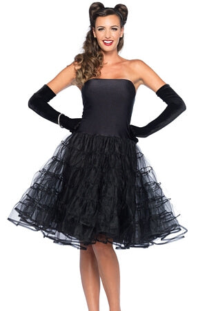 Black Rockabilly Swing Dress