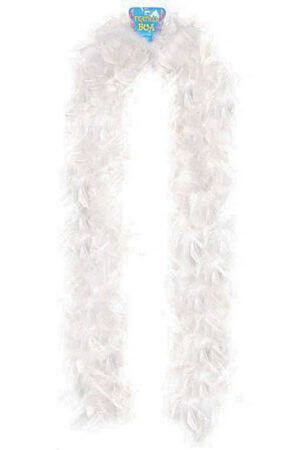 72 inch Feather Boa - White