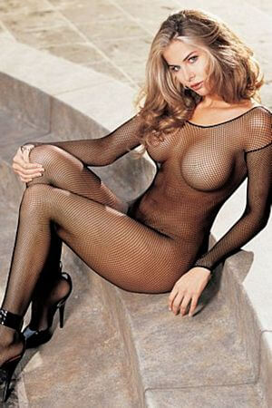 Fishnet Body Stocking Open Front