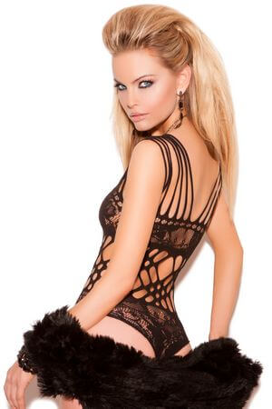Black Lace Cutout Teddy