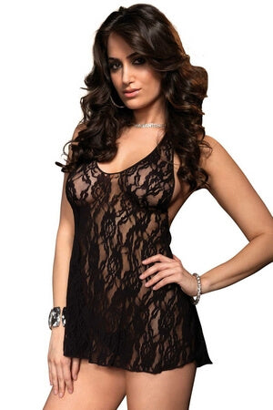 Rose Lace Halter Dress