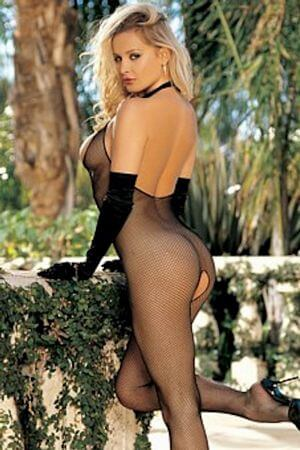 Seamless Fishnet Halter Body Stocking