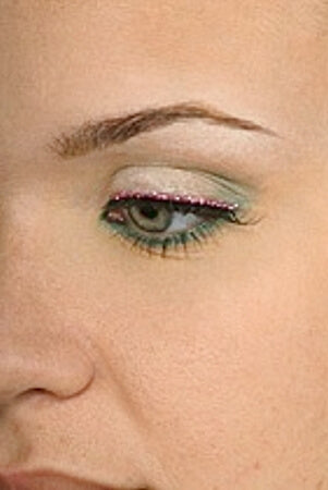 Pink Glitter Band Eyelashes