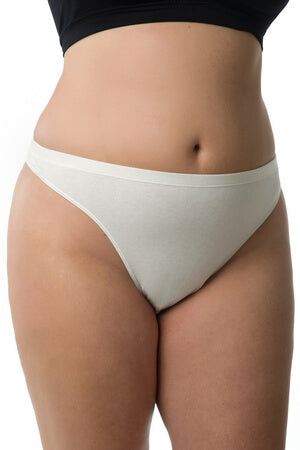 Plus Ivory Ladylike Thong