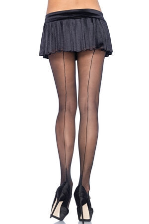 Sheer Cuban Heel Backseam Pantyhose