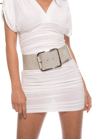Grey Oversized Belt