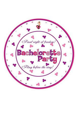 10 Pk 7 inch Bachelorette Party Plates