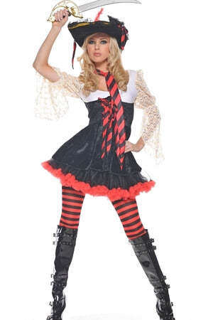 Caribbean Captain 4 Piece Costume Set