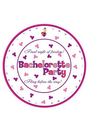 10 Pk 10 inch Bachelorette Party Plates