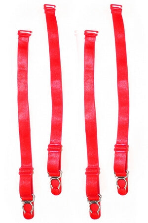 Red Essential Garter Straps