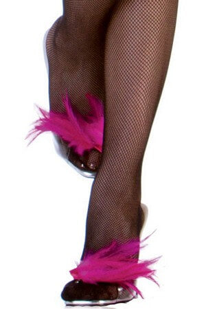 Fuchsia Pink Feather Shoe Accessory