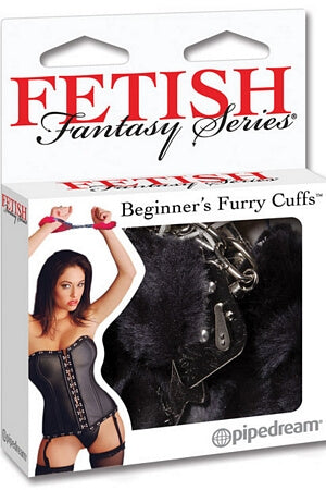 Black Beginners Furry Cuffs