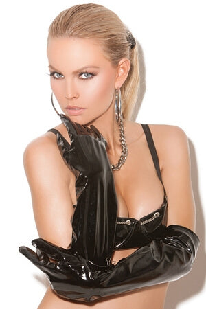 Alluring Long Vinyl Gloves
