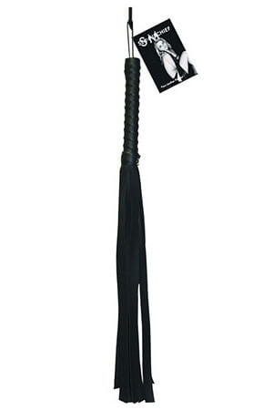 Black Faux Leather Flogger